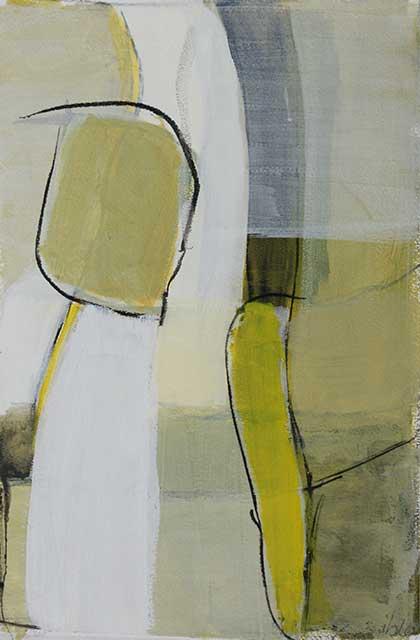 Begegnung, 28 x 38 cm, Acryl auf Papier