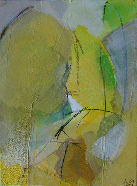 Behuetet, 30 x 40 cm, Acryl auf Leinwand