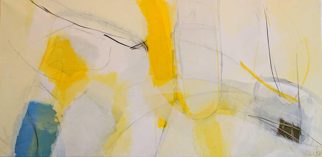 Einfluss, 140 x 70 cm, Acryl auf Leinwand