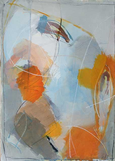 Herbststurm 50 x 70 cm, Acryl auf Papier