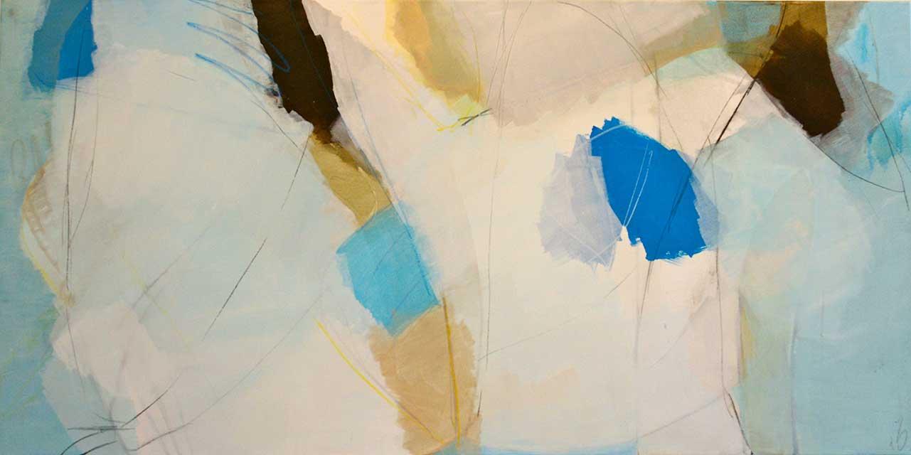 Luftschloesser, 140 x 70 cm, Acryl auf Leinwand