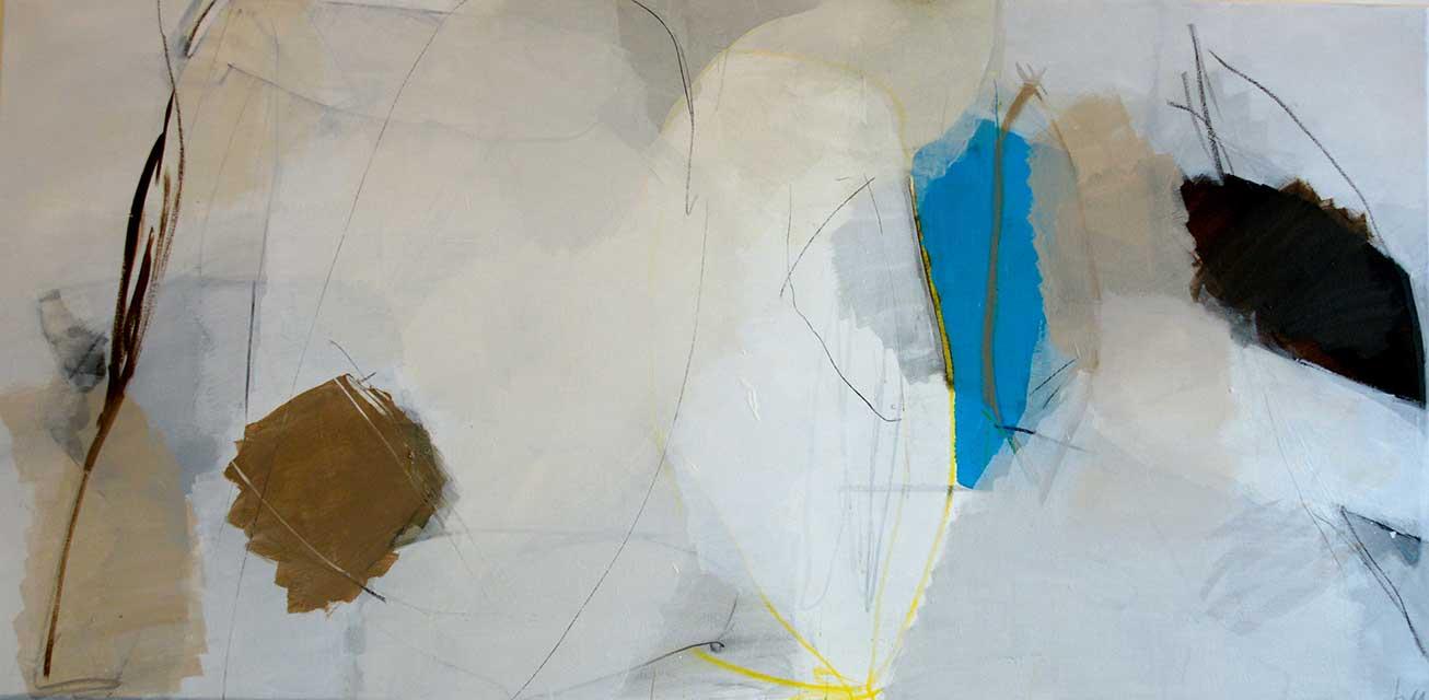 Sommerabend, 140 x 70 cm, Acryl auf Leinwand