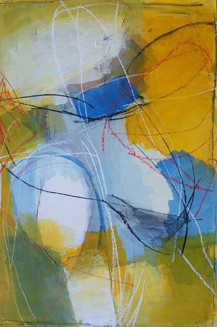 Sommersturm, 50 x 70 cm, Acryl auf Papier