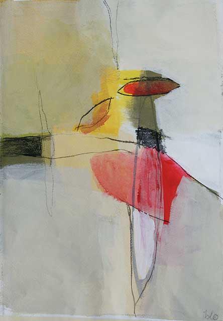 Tanz, 28 x 38 cm, Acryl auf Papier