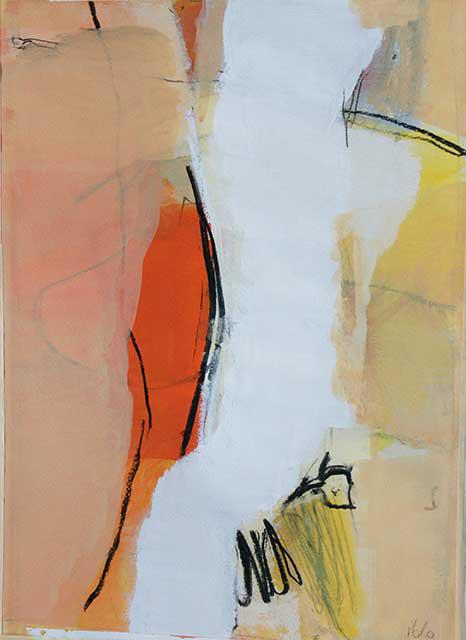 Teilung, 28 x 38 cm, Acryl auf Papier