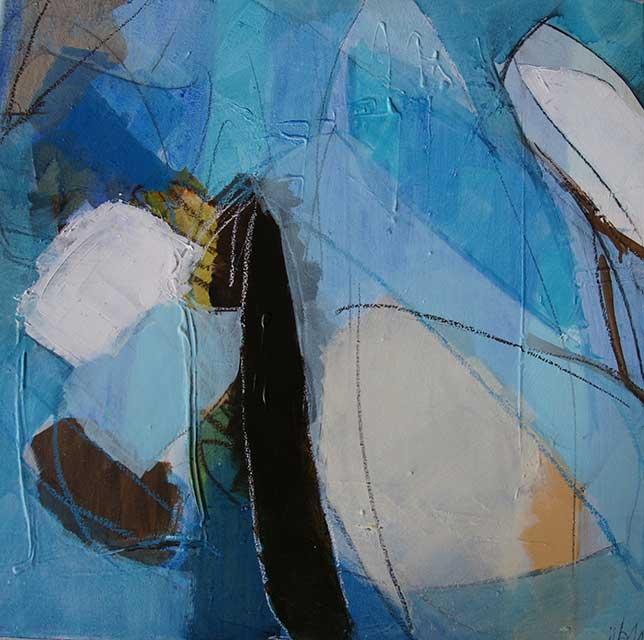 Wildwasserfahrt, 60 x 60 cm, Acryl auf Leinwand