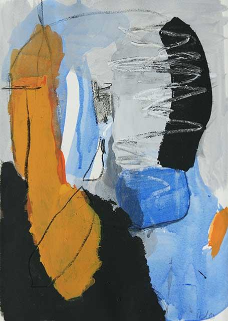 Zorn, 28 x 38 cm, Acryl auf Papier
