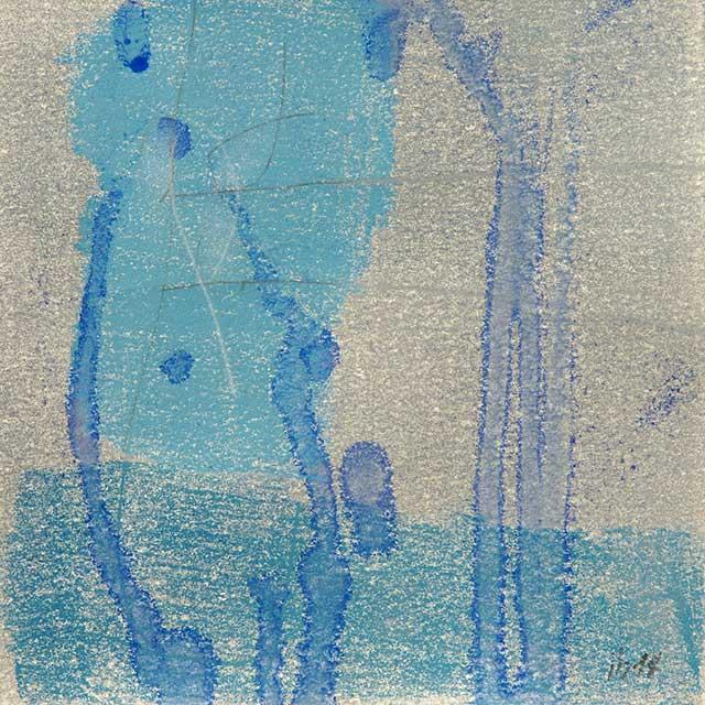 o.T., 19 x 19 cm, Monotypie auf Papier