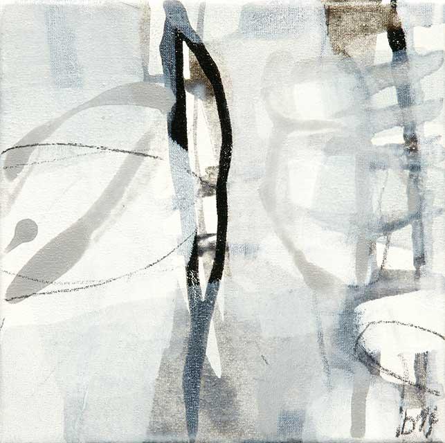 o.T., 20 x 20 cm, Acryl auf Leinwand