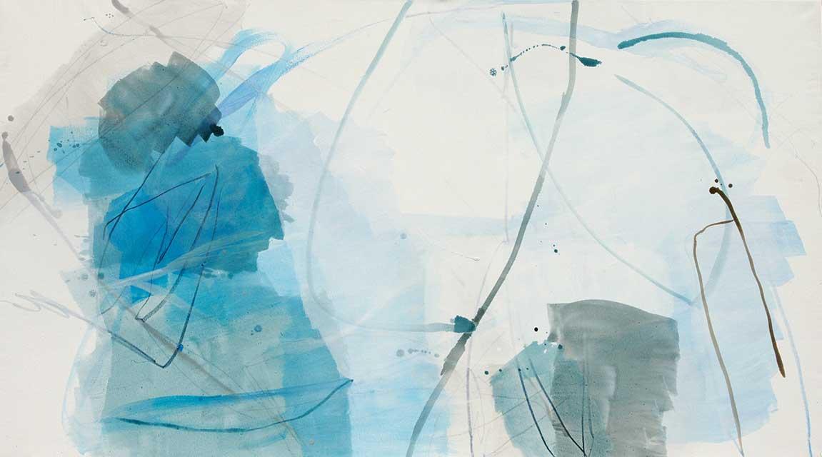 o.T., 160 x 90 cm, Acryl auf Leinwand