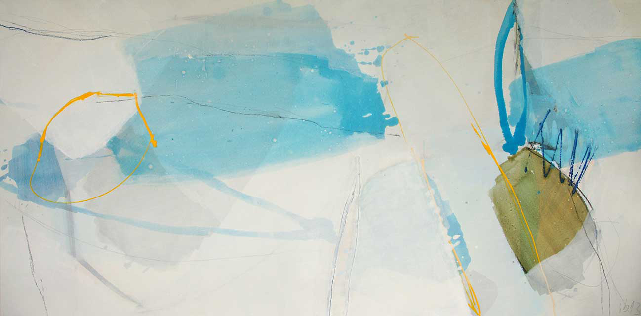 o.T., 140 x 70 cm, Acryl auf Leinwand
